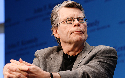 """Stephen King during the """"Kennedy Library Forum Series"""" at The John F. Kennedy Presidential Library and Museum on November 7, 2011 in Boston, Massachusetts. (Photo by Marc Andrew Deley/Getty Images)"""